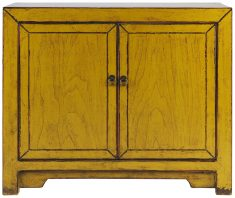 Block & Chisel yellow wooden cabinet
