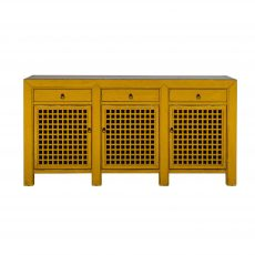 yellow lacquered chinese sideboard