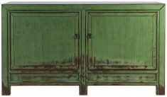 Block & Chisel green wooden cabinet