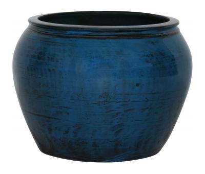 Block & Chisel round cobalt decorative pot
