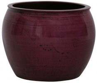 Block & Chisel round magenta decorative pot