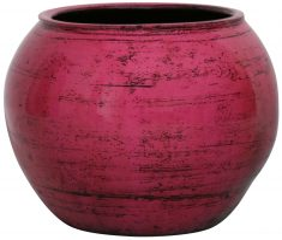 Block & Chisel round pink decorative pot