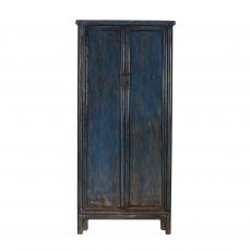 blue distressed painted Chinese cupboard