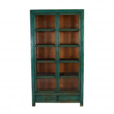 Lacquered Chinese display cabinet with glass