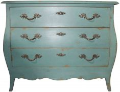 Block & Chisel green distressed chest of drawers