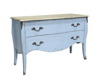 Block & Chisel blue oak 2 drawer chest