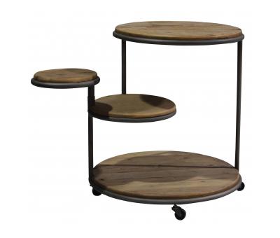 Block & Chisel bleached elm side table