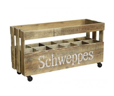 Block & Chisel crate on castors