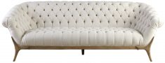 Block & Chisel upholstered button tufted sofa