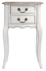 Block & Chisel cream 2 drawer french bedside