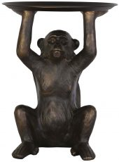 Block & Chisel polyresin monkey with metal holder