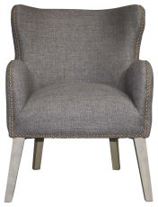 Block & Chisel grey upholstered club chair