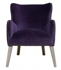 Block & Chisel purple velvet club chair