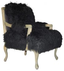 Block & Chisel black upholstered occasional chair