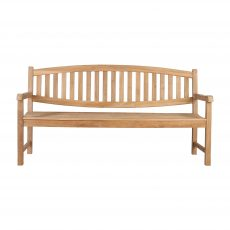 Block & Chisel teak wood bench