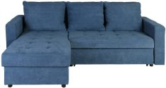 Block & Chisel blue upholstered corner sofa