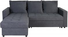 Block & Chisel grey upholstered corner sofa