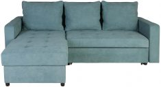 Block & Chisel green upholstered corner sofa