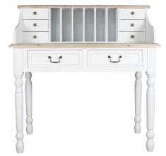 Block & Chisel white wooden writing desk with hutch