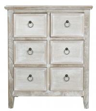 Block & Chisel white washed and weathered oak Stanford chest