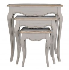 Block & Chisel wooden painted nesting side tables