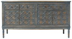Block & Chisel blue distressed french inspired wooden sideboard