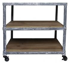 Block & Chisel side table with castors