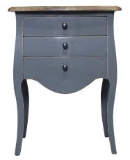 Block & Chisel blue french bedside table