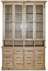 Block & Chisel weathered oak display cabinet
