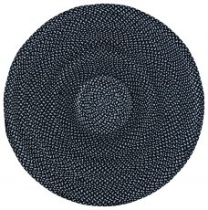 Block & Chisel round black & white braided cotton carpet