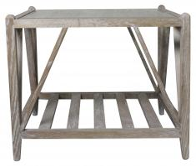 Block & Chisel burnt oak side table