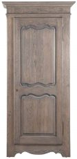 Block & Chisel single door solid railway oak wardrobe