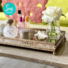 Block & Chisel rectangular iron tray with mirrored base