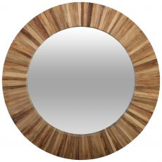 Block & Chisel round mirror with plywood frame