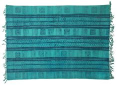 Block & Chisel blue cotton printed rug