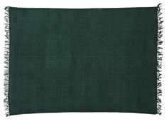 Block & Chisel green cotton printed rug