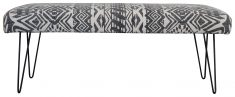 Block & Chisel black and white print upholstered bench