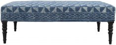 Block & Chisel blue print upholstered bench