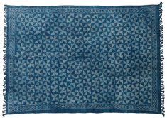 Block & Chisel blue printed cotton rug