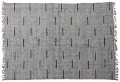 Block & Chisel blue and grey printed cotton rug