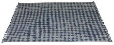 blue and white cotton rug