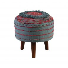 zita stool in red and blue