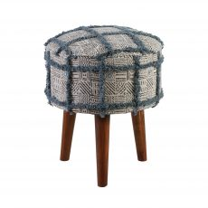 zita stool in natural and blue