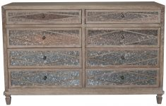 Block & Chisel new oak chest of drawers with antique mirrored doors
