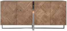 Block & Chisel rectangular reclaimed fir sideboard with stainless steel base
