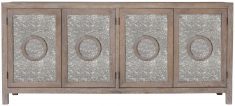 Block & Chisel new oak sideboard with antique mirrored doors