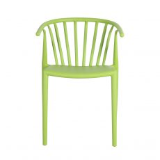 horse shoe pvc outdoor chair in green