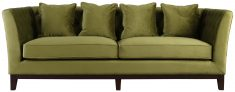 Block & Chisel green upholstered 3 seater sofa