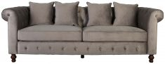 Block & Chisel grey velvet upholstered 3 seater sofa
