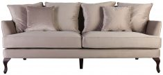 Block & Chisel champagne upholstered 3 seater sofa